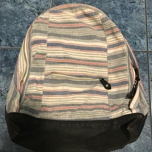 Rag and bone multi color striped backpack